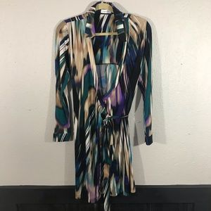 Calvin Klein Long Sleeve Wrap Dress size 10